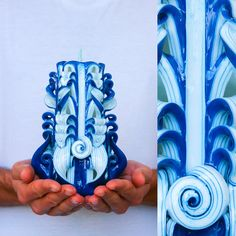Carved candles, also called BAROQUE candles, are created according to the 16th century technology.  http://www.etsy.com/shop/primacandle