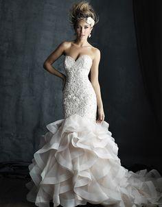 @Bellethemagazine wedding dresses | Allure Couture Fall 2016 | Floor Ivory Mermaid / Trumpet Sweetheart $$$ ($2,001-3,000)