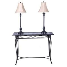 3-Piece Foyer Table and Lamp Set-GNK127 at The Home Depot