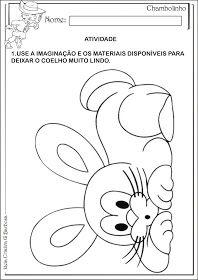 Atividade Fazendo Arte Maternalzinho Pascoa Educacao Infantil