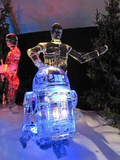 r2-d2 c3p0 ice sculpture
