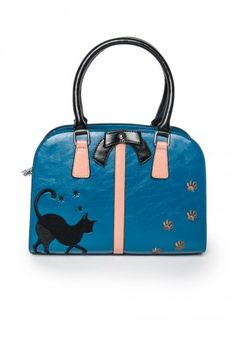 Pawsitivly Cute Kitty Bag at Pinup Girl Clothing Pinup Girl Clothing, Pinup Couture, Grey Cats, Rockabilly Fashion, Printed Bags, Crazy Cat Lady, Vintage Accessories, Cute Cats, Purses And Bags