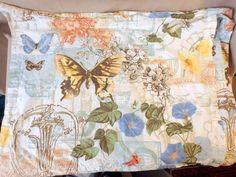 Pottery Barn Flower Morning Glory Butterfly Garden Collage Pillowcase Standard  #PotteryBarn #Botanical
