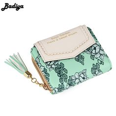 Cheap female purse, Buy Quality small wallet directly from China carteira feminia Suppliers: Vintage Women Floral Small Wallet Sweet Female Purses Bifold Flower Carteira Feminia Tassel Purse For Gift women wallet, women wallet small, women wallet organizers, women wallet pattern, women wallet cute, women wallets and purses, women wallets #wallet #wallets #purse