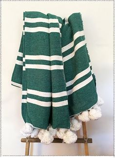 Pine Pom Pom Blanket