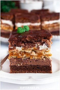 Sweet Desserts, Just Desserts, Sweet Recipes, Cake Recipes, Dessert Recipes, Yummy Food, Tasty, Sweets Cake, Polish Recipes
