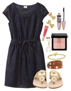 """""""Sorry I wasn't active today guys """" by lbkatie17 on Polyvore featuring Jack Rogers, Tory Burch, Kate Spade, Too Faced Cosmetics, Bobbi Brown Cosmetics, Maybelline and Charlotte Tilbury"""