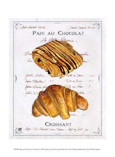 Pain au Chocolat et Croissant
