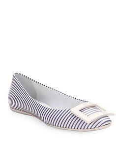 a5c2eeadbfa0 Roger Vivier - Gommette Striped Ballet Flats