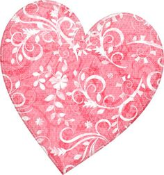 Pink and white floral heart