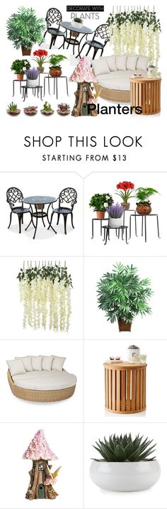 """""""Gardening with plants."""" by deborahanamariarachelina on Polyvore featuring interior, interiors, interior design, home, home decor, interior decorating, Nearly Natural, Sunset West, Mark & Graham and Top Collection"""