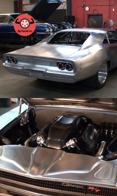 This monster 1968 Dodge Charger called Maximus is being built by Scott Spock Racing and Nelson Racing Engines. Just about everything on this car is custom. The bodywork alone has 1500 hours. Bugatti Cars, Ferrari Car, Porsche Cars, Bmw Cars, Chrysler Charger, New Luxury Cars, 1957 Chevy Bel Air, Car Camper, Mercedes Car