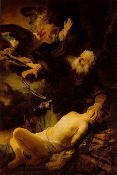 Abraham's Sacrifice by Rembrandt