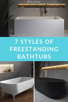 Excited about planning your bathroom remodel but confused with so many styles and shapes of freestanding bathtubs? With our handy guide, you'll learn everything you need to choose the perfect freestanding bath style for your new bathroom. Contemporary baths, clawfooted baths, even black freestanding baths - read on to decide what's the perfect fit for your bathroom project. #riluxa #freestandingbathtub #freestandingbath #bathroomstyle #bathroomdecor Round Bath, Luxury Bathtub, Freestanding Bath, Contemporary Baths, Boho Bathroom, Bathtubs, Bathroom Interior Design, Confused, Perfect Fit