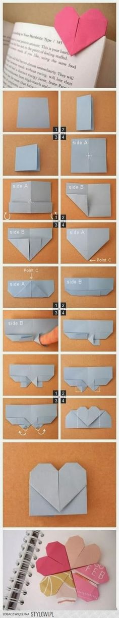 Heart Bookmark Tutorial - DIY: 18 Crafty Bookmarks Tutorials and Ideas | the perfect line
