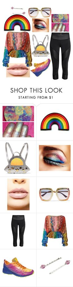 """""""Pride Parade: Spacegirl"""" by sharostyles ❤ liked on Polyvore featuring Charlotte Olympia, LASplash, Gucci, Just Cavalli, Icebug, Marc Jacobs and pride"""