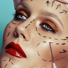 Nip/Tuck on Behance Makeup Photography, Portrait Photography, Narrative Photography, Feminism Photography, Relleno Facial, Glossy Eyes, Make Up Inspiration, Ugly To Pretty, Identity Art