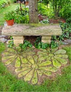 Flower Stepping Stones