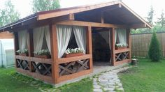 Pergola For Sale Lowes Backyard Gazebo, Garden Gazebo, Backyard Patio Designs, Backyard Retreat, Deck With Pergola, Patio Roof, Pergola Patio, Pergola Ideas, Garden Paths