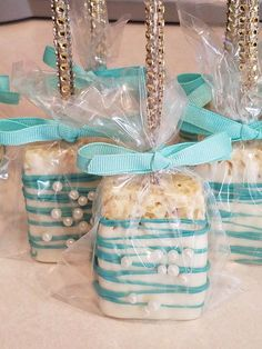 Tiffany and Teal Chocolate Covered Rice Krispy Treats perfect for a sweet sixteen! Tiffany and Teal Chocolate Covered Rice Krispy Treats perfect for a sweet sixteen! Tiffany and Teal Chocolate Covered Rice Krispy Treats perfect for a sweet sixteen! Tiffany Sweet 16, Tiffany Blue Party, Tiffany Birthday Party, Tiffany Theme, 16 Birthday Cake, Azul Tiffany, Sweet 16 Birthday, 16th Birthday, Teal Party