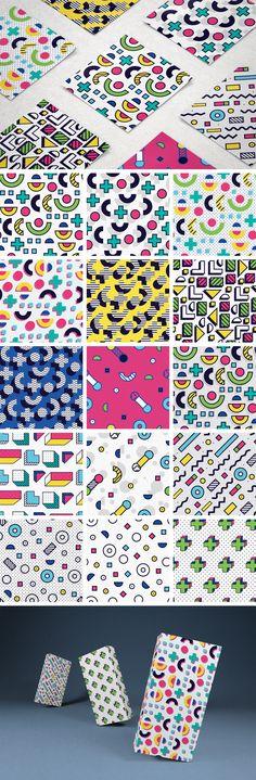 8-bit Memphis Patterns Pack - download freebie by Pixelbuddha