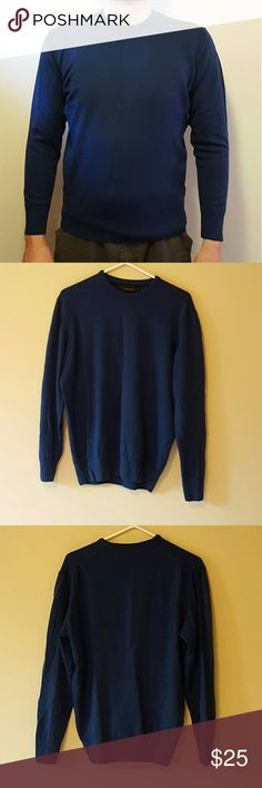 """Zara Man Crew Neck Sweater Zara Man Size XL *Bit tight for an XL. See measurements below Chest: 20"""" Shoulder: 16.25"""" Length: 24"""" Sleeve length: 22"""" Measurements are approximate  Color: Dark Navy  Great Preloved condition Zara Sweaters Crewneck"""