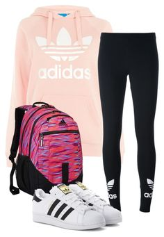 """""""A is for Adidas"""" by virginia-counts on Polyvore featuring Topshop, adidas Originals and adidas"""