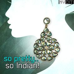 This exquisite pair of earrings is the epitome of feminine elegance. Wear it with anything to add that India beauty.