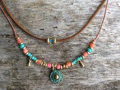 Boho necklace for women Modern jewellery Charm necklace Bohemian necklace women Tribal necklace Boho jewelry for women Bohemian Necklace, Tribal Necklace, Hippie Jewelry, Short Necklace, Charm Jewelry, Beaded Necklace, Necklace Set, Stylish Jewelry, Modern Jewelry