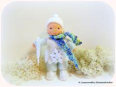 Winterkind Blumenkinder Jahreszeitentisch von Susannelfes Blumenkinder  auf DaWanda.com