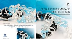 Preciosa Ornela presents bracelets made using the new size of popular pebble-shaped pressed beads supplemented with wire spirals and PRECIOSA Farfalle™ seed beads.