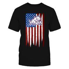 Grunge American Flag - TCU Horned Frogs