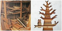 Woodworking Salvage Art: Owl