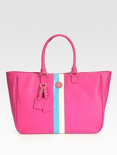 Tory Burch - Roslyn Striped Canvas Tote Bag - Saks.com