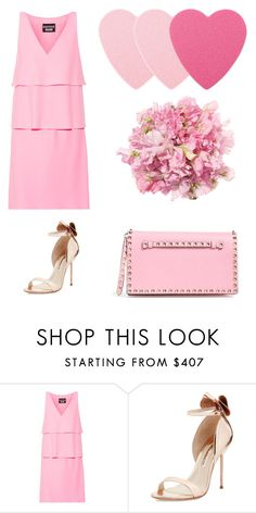"""Pinkpinkpink"" by marishkabondareva ❤ liked on Polyvore featuring Boutique Moschino, Sophia Webster and Valentino"