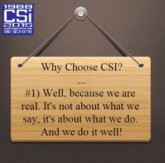 Why Choose CSI? #CSIPromos