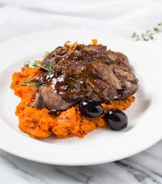 Slow Cooker Beef Roast with Carrot Mash | easy one pot meal (paleo, AIP, gluten-free)