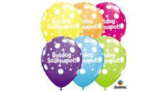 Boldog szülinapot lufi pöttyös 5 db, Nicol Party Kellék Bolt Party, Receptions, Parties