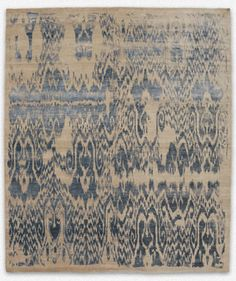 LUKE IRWIN - Ikat - perfectly worn - Ikat = Method of printing woven fabric by tie-dyeing the warp yarns (warp ikat), the weft yarns (weft ikat), or both (double ikat) before weaving. Textures Patterns, Print Patterns, Ikat Pattern, Textiles, Rustic Rugs, Cool Rugs, Do It Yourself Home, Rugs On Carpet, Fiber Art