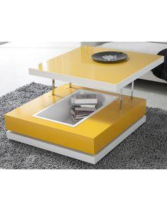 Zanzibar Table Basse Transformable Style Contempor Déco Table