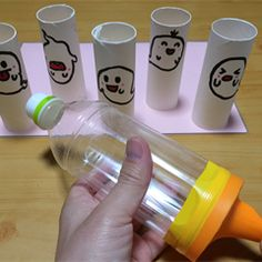 Conquest the Ghosts with an Air Gun Game Toilet Paper Roll Crafts, Paper Crafts, School Board Decoration, Diy Crafts For Kids, Easy Crafts, Homemade Toys, Diy Stuffed Animals, Business For Kids, Diy Toys