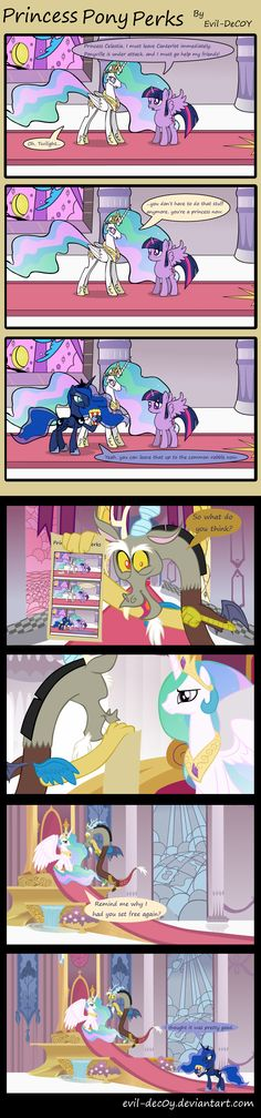 Princess Pony Perks by *Evil-DeC0Y on deviantART