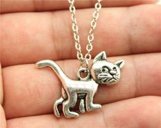 WYSIWYG Antique Silver, Antique Bronze Color Cute Cat Pendant Necklace //Price: $7.95 & FREE Shipping // Get it here ---> http://bestofnecklace.com/wysiwyg-antique-silver-antique-bronze-color-cute-cat-pendant-necklace/    #jewellery