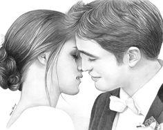 Edward And Bella Drawing ❤