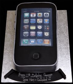 Omg I want iphone cake!  Instead of writing below, include the message as part of a push notification!  www.themarriedapp.com hearted <3