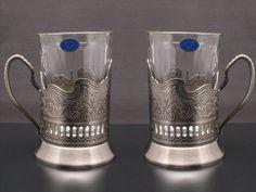 Russian Hot Tea Drinking Paneled Glass Granyoniy 7 oz for Hot/Cold Beverages for Holder Podstakannik Vintage USSR Set of 2 Neman http://smile.amazon.com/dp/B009I3VL26/ref=cm_sw_r_pi_dp_PDyfwb0WTDDG8