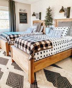 Repost I these beds so much Im thinking of building a queen for the master! Boys Room Decor, Kids Bedroom, Bedroom Decor, Rustic Boys Rooms, Big Boy Bedrooms, Baby Boy Rooms, Baby Room, Bedroom Ideas, Shared Boys Rooms