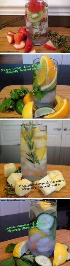 Great infused water recipes for Summertime parties or a beach day. Hydration never looked so good