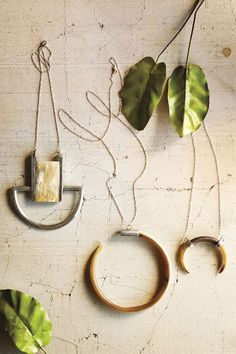 Horn Crescent Pendant Necklace - anthropologie.com