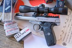 For accuracy testing I mounted a Bushnell Elite 3500 handgun scope.
